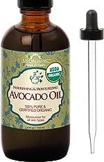 US Organic Avocado Oil Unrefined Virgin, USDA Certified Organic, 100% Pure