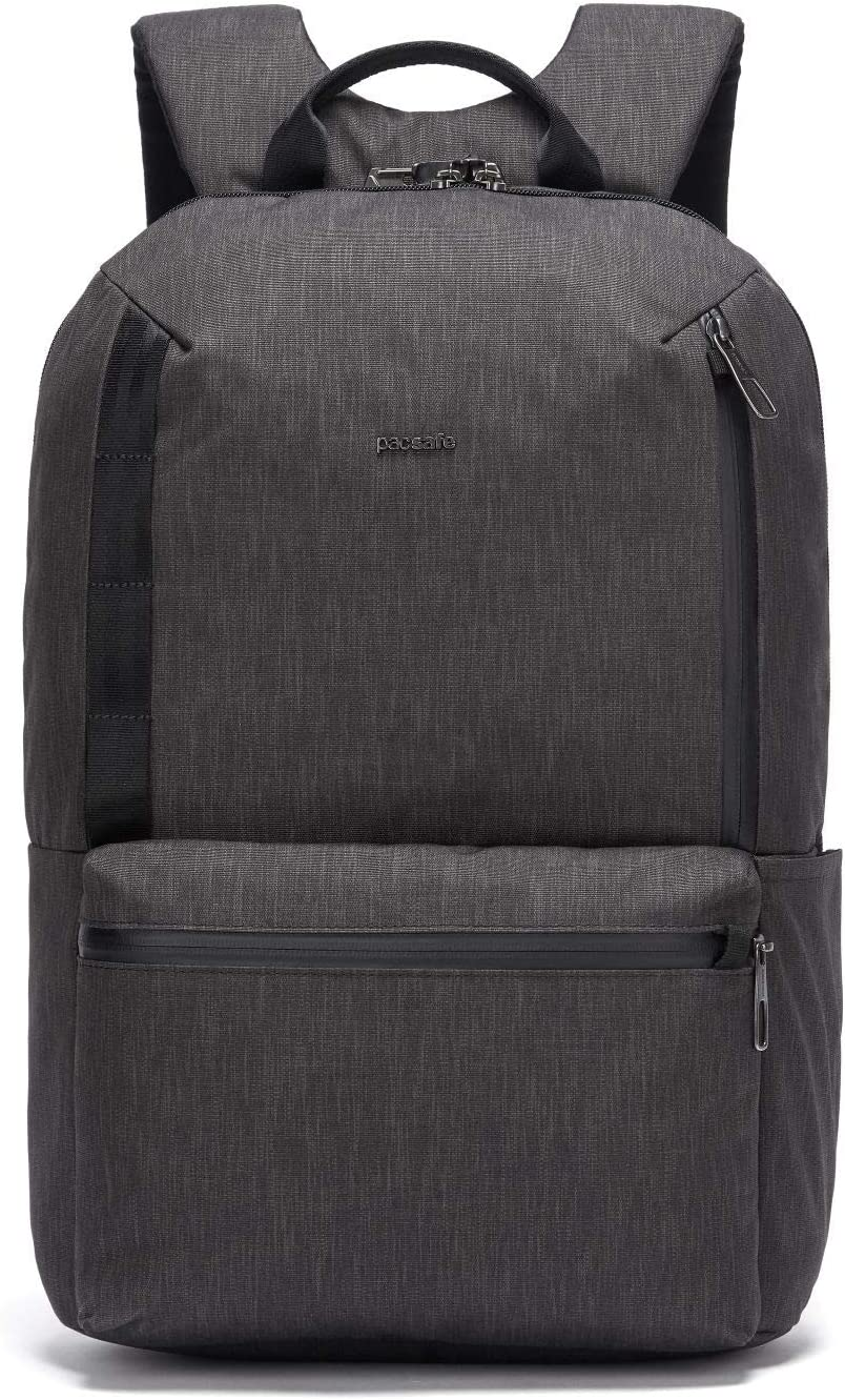 "PacSafe Men's Metrosafe X Anti Theft 20L Backpack-with Padded 15"" Laptop Sleeve, Carbon, 20.5 Liter"