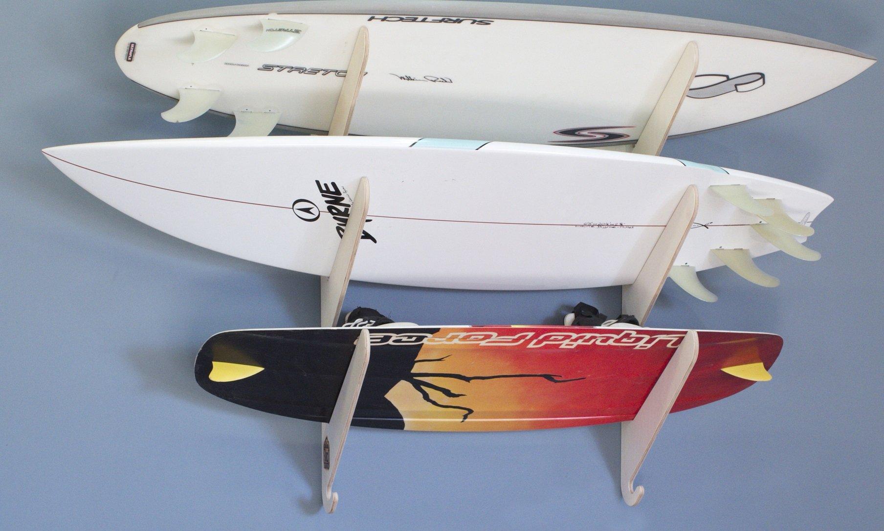 Surfboard Wakeboard Hanging Wall Rack -- 3 Boards