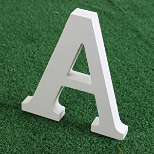 Fenta Wooden Wood White Letters Alphabet Word Free Standing Wedding Party Home Décor