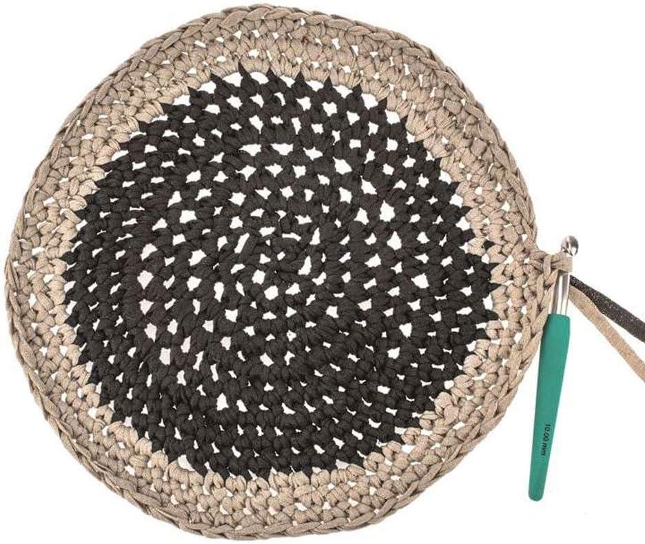 Glorex 5 1005 02 Kn/üpfen und textilen Gestalten ca superweiches Textilgarn aus 60 /% Baumwolle//40 /% Viskose Bands Makramee 125 m Stricken zum H/äkeln blau 250 g