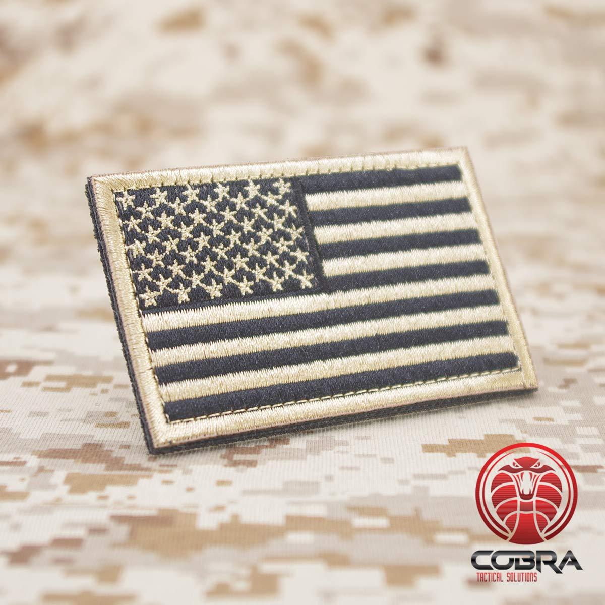 Cobra Tactical Solutions Military Patch USA Fanion avec Fermeture Velcro pour Airsoft//Paintball pour v/êtements Tactiques et Sac /à Dos