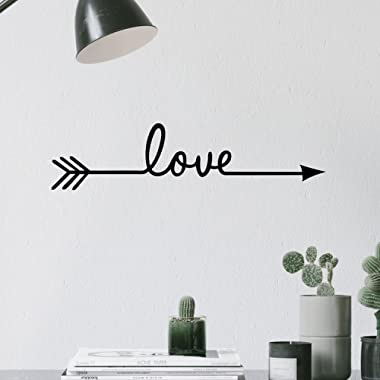 TRAHOME Fashion Love Arrow Decal Living Room Bedroom Vinyl Carving Wall Decal Sticker for Home Decoration (Love Arrow)