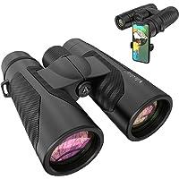 Adasion 12x42 Binoculars for Adults w/Universal Phone Adapter