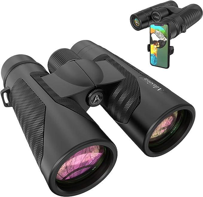 42 Binoculares De Visi/ón Port/átiles Impermeables Prism/áticos Telescopio Binocular High Night 10