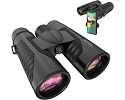 12x42 HD Binoculars for Adults with Universal Phone Adapter - High Power Binocularswith Super Bright and Large View- Lightwe