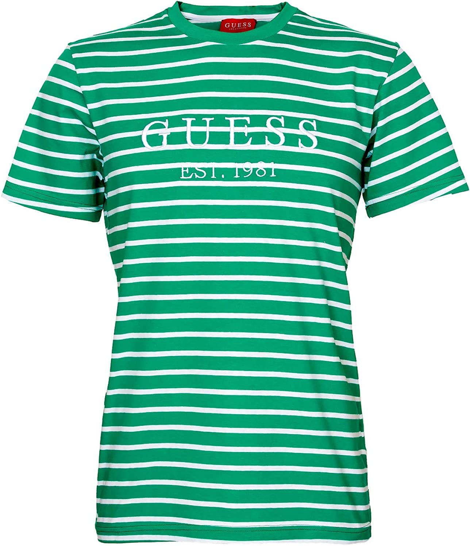 Guess Stripe Motif Logo Camiseta para hombre