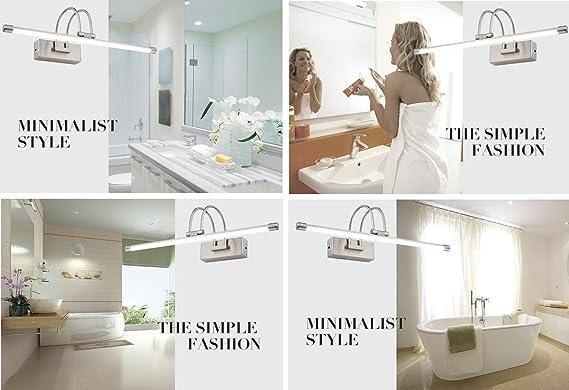 LED Vanity Light Bathroom Light LED Wall Light Chrome 180 Degrees Rotation Cool White 10W 22.5 inch Wall Sconces Bathroom Lighting Fixtures Over Mirror Lamp ...