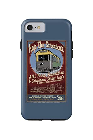 Seattle, Washington - West Seattle Streetcar Vintage Sign (iPhone 7 Cell Phone Case,
