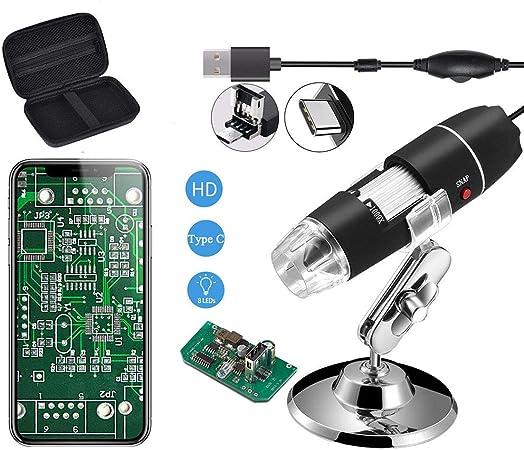 jiulonerst 3in1 USB Type-C Micro-USB 1000X Microscope 1080P 2MP