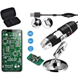 Jiusion Original 40-1000X USB Microscope with Portable Carrying Case, Digital Magnification Endoscope Camera 8 LEDs…