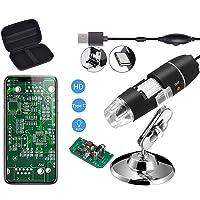 Jiusion Original 40-1000X USB digitalt mikroskop med bärbart bärfodral, förstoring stereo endoskopkamera 8 lysdioder…