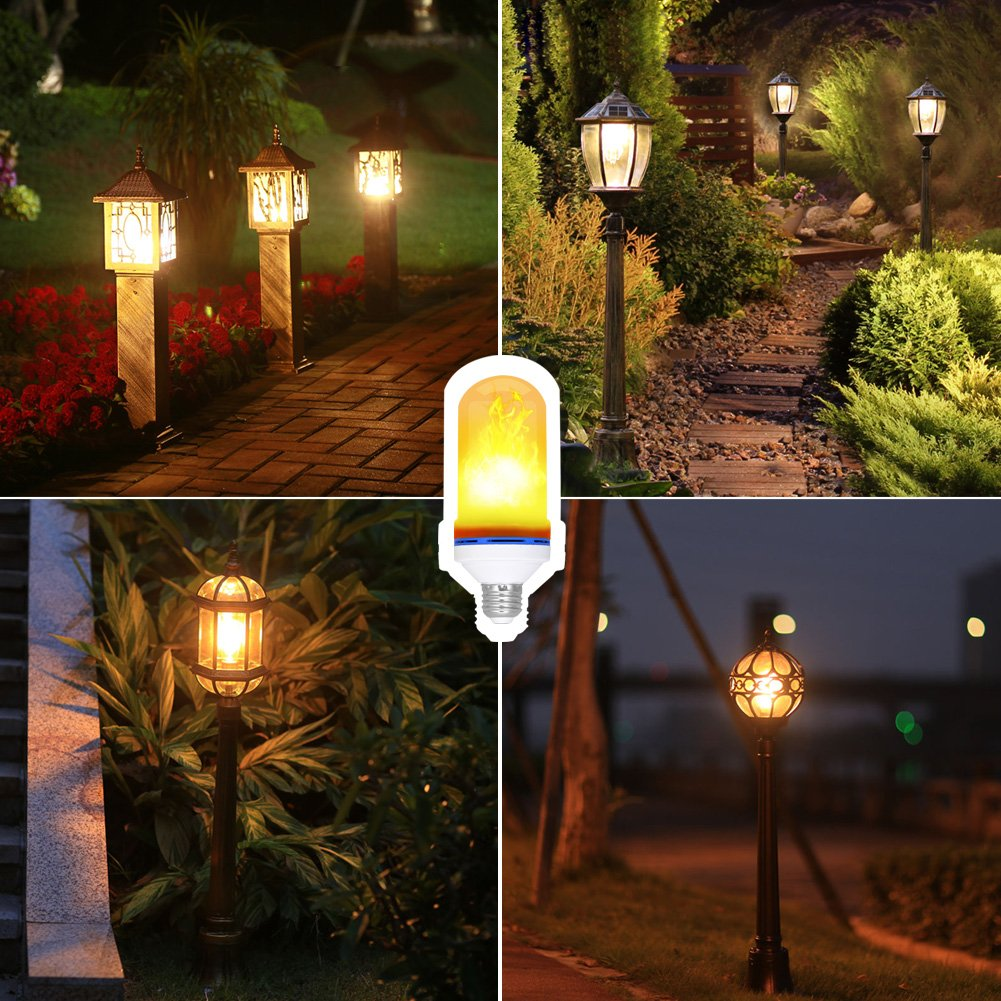 Flame Light Bulb, E26 LED Flickering Effect Light Bulbs,105pcs 2835 LED Beads Simulated Decorative Light Atmosphere Lighting Vintage Flaming Light Bulb for Bar,Home,Festival Decoration