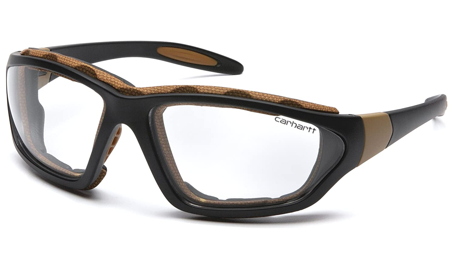 aa9b0d880e Amazon.com  Carhartt Carthage Safety Eyewear with Vented Foam Carriage