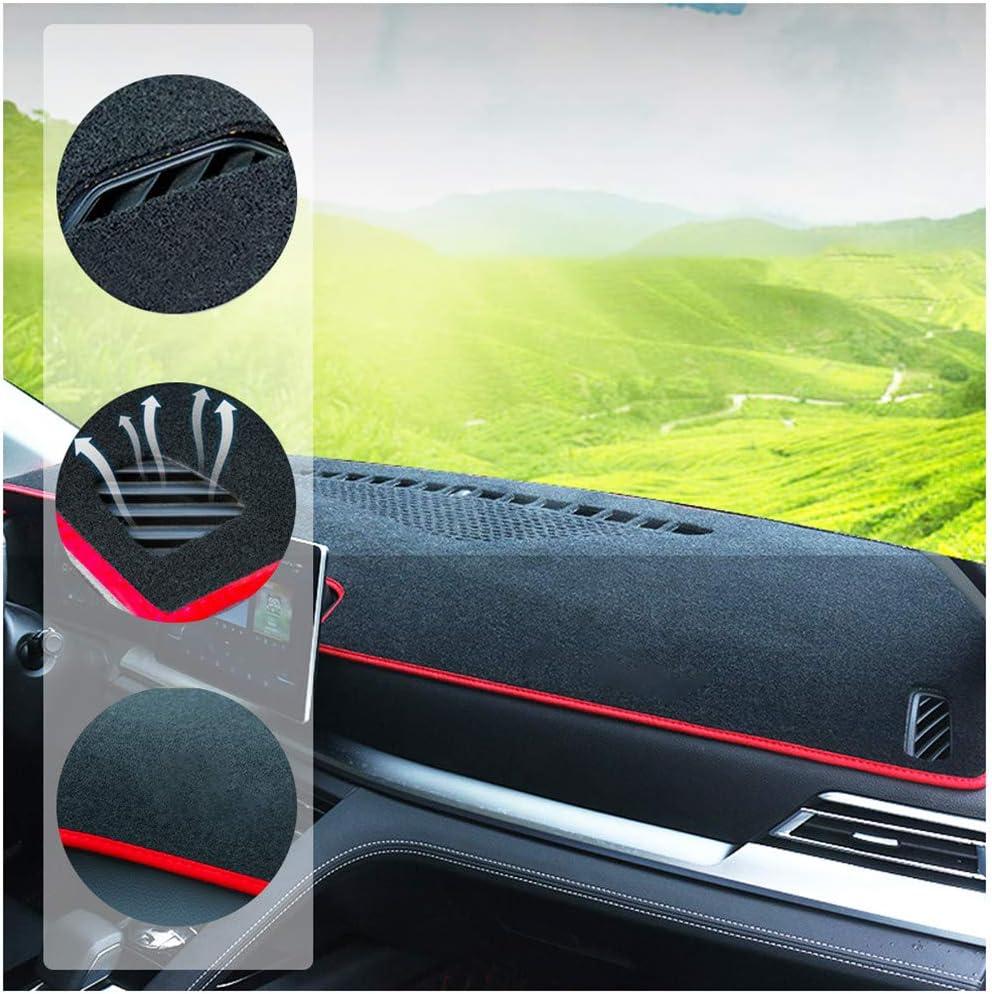 WANLING Dashboard Cover Custom for Citroen C5 2010-2016 Dash Cover DashMat Red Thread