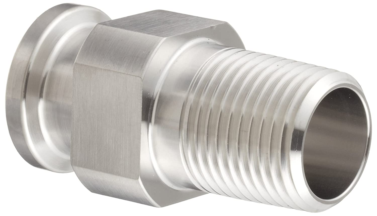 Dixon 21MP-R200 Stainless Steel 316L Sanitary Fitting, Clamp Adapter, 2' Tube OD x 2' NPT Male
