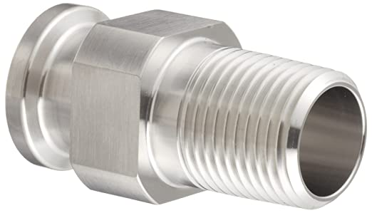Dixon 21MP-R100 Stainless Steel 304 Sanitary Fitting Clamp Adapter 1 Tube OD x 1 NPT Male