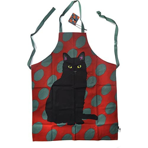 Spotty Black Cat Apron