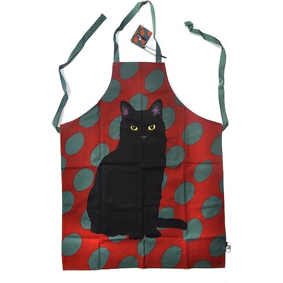 Spotty Black Cat Apron