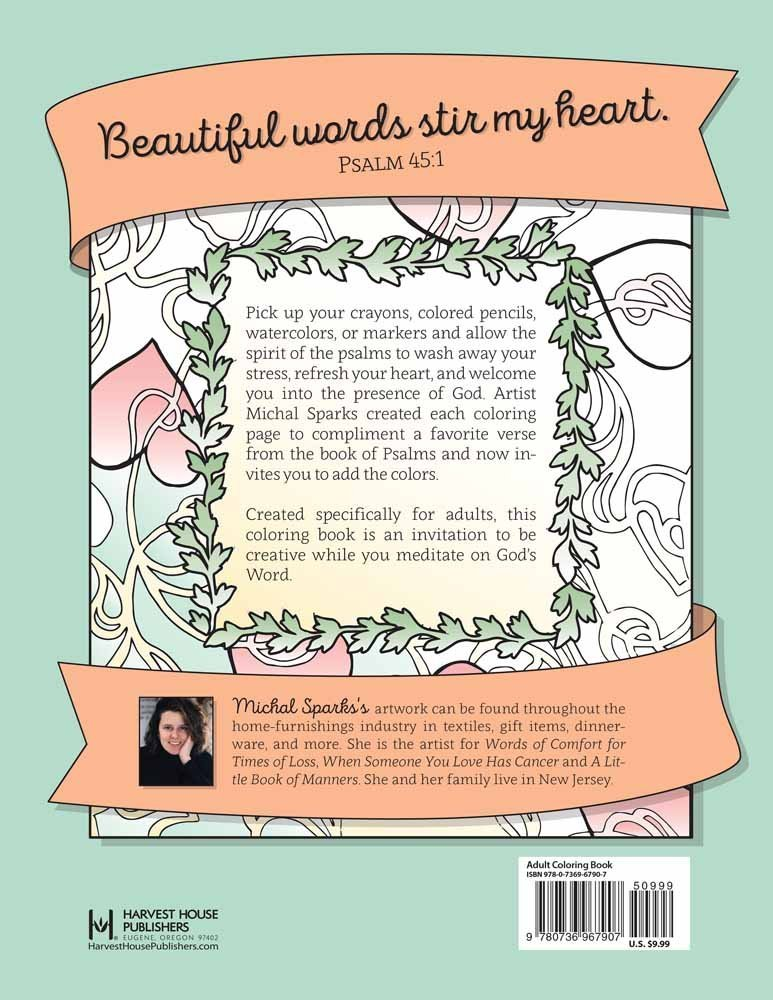 Amazoncom Color the Psalms An Adult Coloring Book for Your Soul