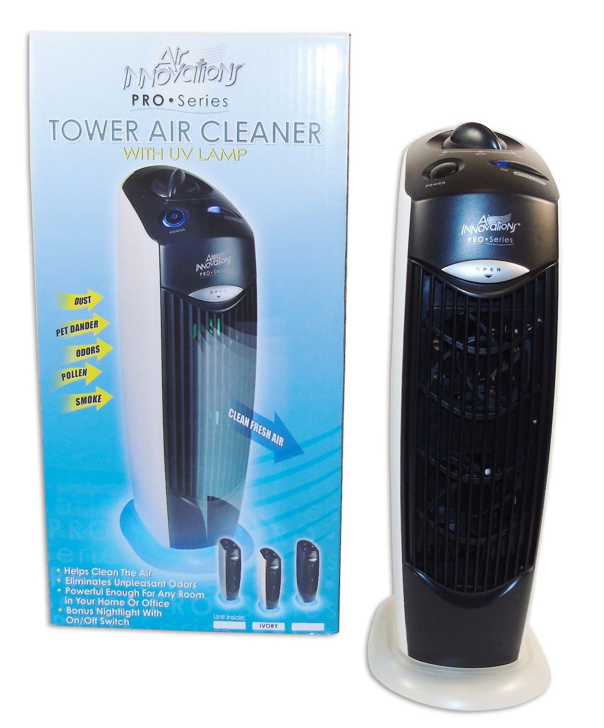 Amazon.com: Tower Air Cleaner with UV Lamp - Air Innovations Pro ...