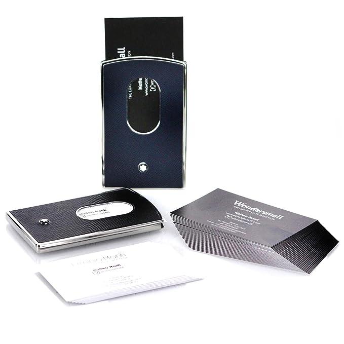 Montblanc Sartorial carcasa rígida Tarjeta de visita Holder Negro 116390: Amazon.es: Oficina y papelería