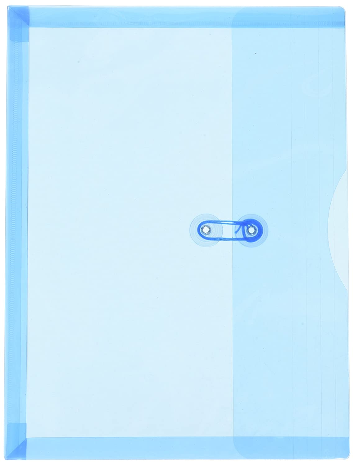 JAM PAPER Plastic Envelopes with Button & String Tie Closure - Large Booklet - 12 x 18 - Clear - 12/Pack JAM Paper & Envelope