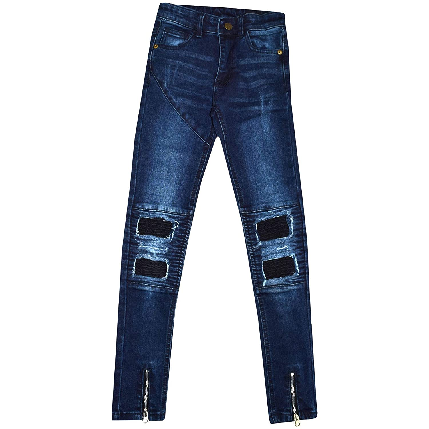 Denim Desire Girls Skinny Slim Ripped Distressed Stretchy Jean Pants Trousers Size 7 to 13 Years