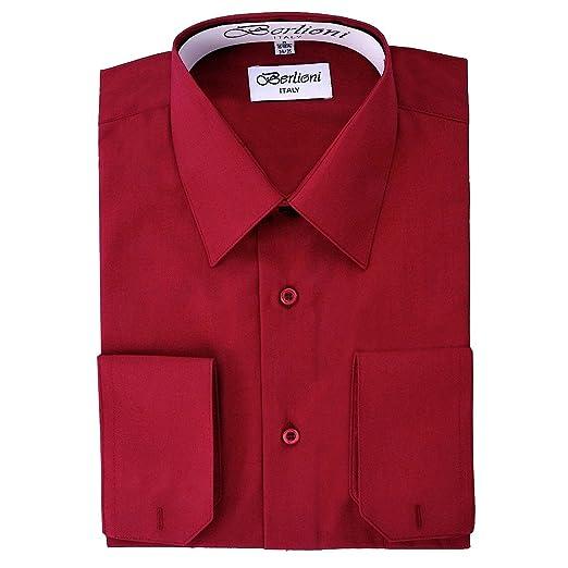 Men S Burgundy Solid Dress Shirt At Amazon Men S Clothing Store