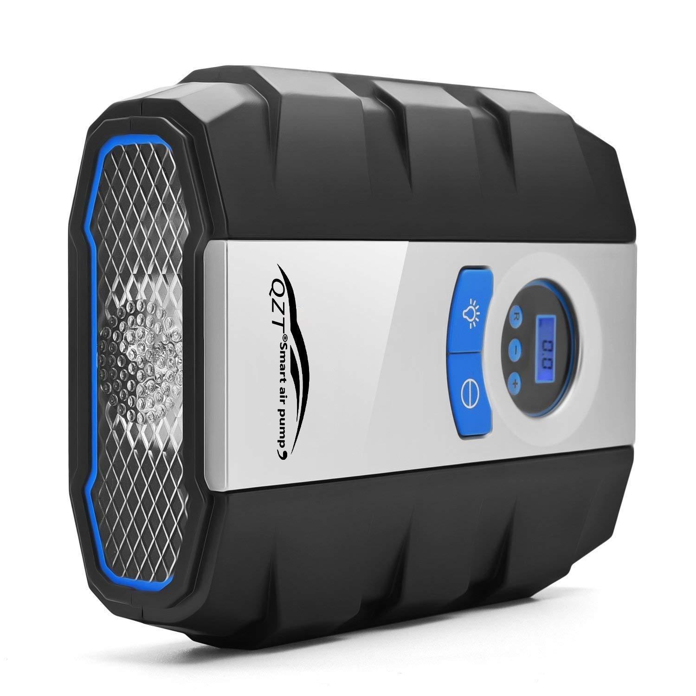 TDW Compresor de Aire Digitales, QZT DC 12V Compresor de Aire portátil Digital con lámpara LED - 150 PSI (Gris): Amazon.es: Coche y moto