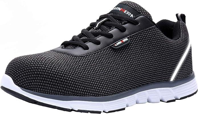 LARNMERN Zapatillas de Seguridad Hombre,S1 SRC Zapatos de