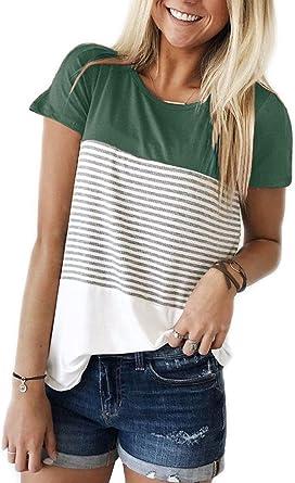 Yidarton T-Shirt Femme /Ét/é Col Rond Manche Courtes Blouse Casual Tee Shirt Top