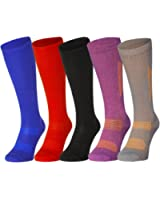 Organic Graduated Compression Socks by DANISH ENDURANCE, for Men & Women, Stockings for Flight, Travel, Nurses, Pregnancy, Shin Splints, Running & Sports. Boost Performance, Circulation & Recovery