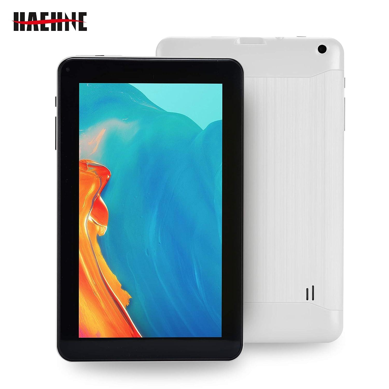 Haehne 9 Pouces Tablette Tactile, Google Android 6.0 Quad Core Tablet PC, 1Go RAM 16Go ROM, Double Caméras, WiFi, Bluetooth, pour Enfants & Adultes, Blanc