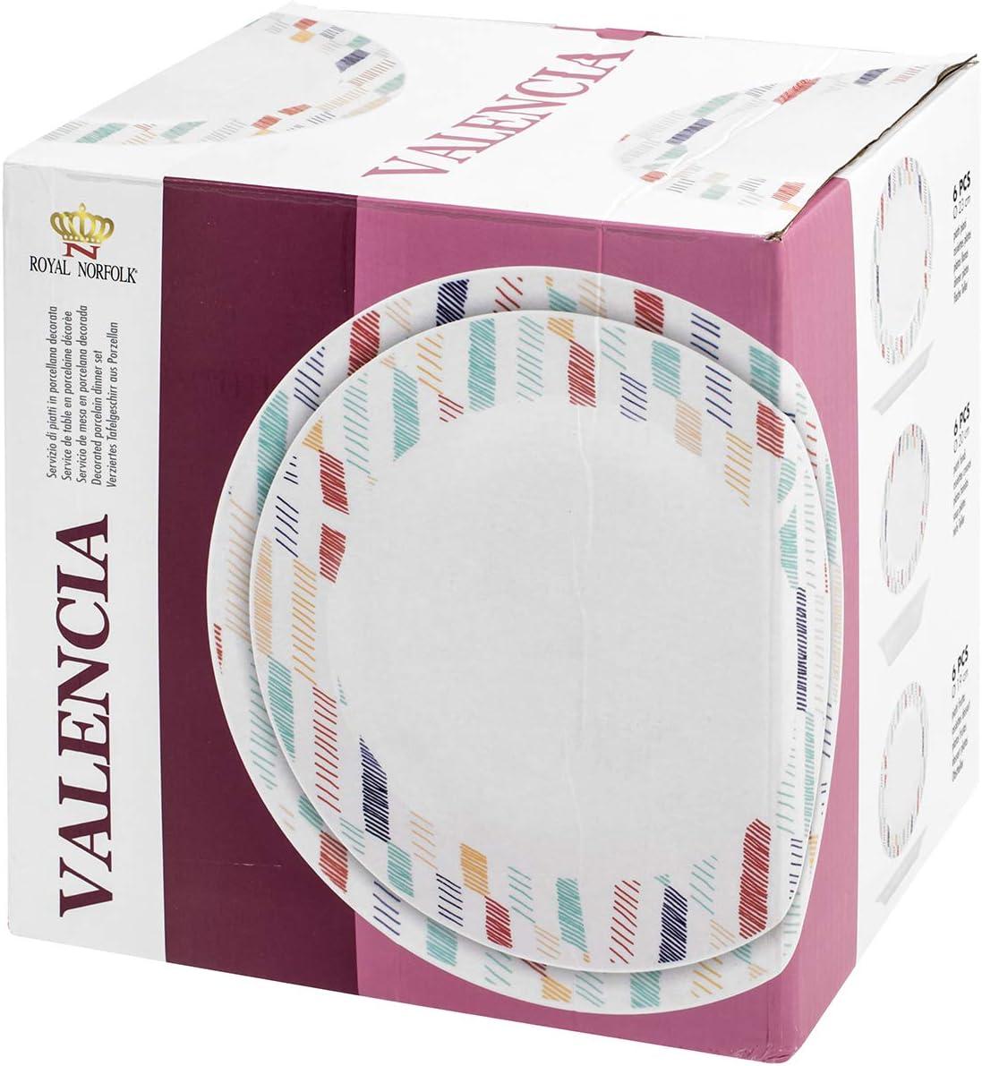 Royal Leerdam 735080 Royal Norfolk Valencia - Vajilla de porcelana ...