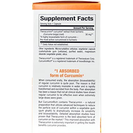 Amazon.com: Natural Factors - CurcuminRich Theracurmin 30mg, #1 ...