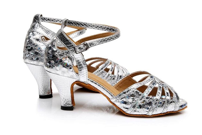 JSHOE Damen Pailletten Latin Tanzschuhe Salsa / Tango / Modern Tee / Samba / Modern / / Jazz Schuhe Sandalen High Heels,Silverheeled6CM-UK6/EU39/Our40 Silverheeled6cm 7448c8