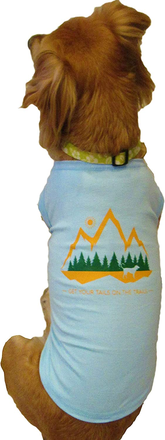 Fetch the Sun Dog's Matching Tails on Trails Hiking Sleeveless Shirt.