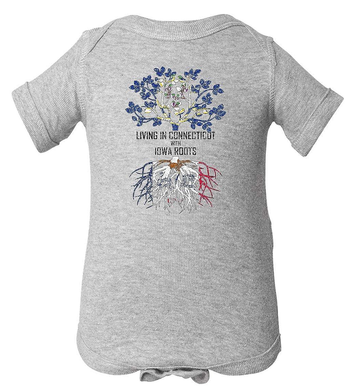 Tenacitee Babys Living in Connecticut Iowa Roots Shirt