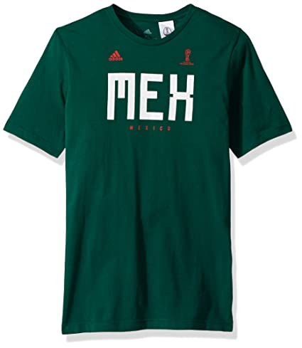 new arrival e3cae b4206 adidas World Cup Soccer Mexico Youth Boys Mexico Tee, Medium, Core Green