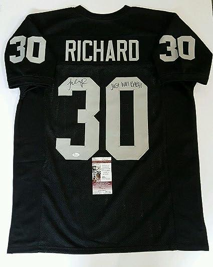 Image Unavailable. Image not available for. Color  Autographed Jalen  Richard Jersey - Custom SIZE 52 - JSA Certified - Autographed NFL Jerseys fda85790b