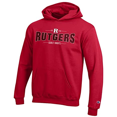 cc5ce098 Champion NCAA Youth Long Sleeve Fleece Hoodie Boy's Collegiate Sweatshirt,  Rutgers Knights, Medium