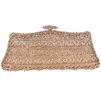 159dcaaeed Buy Fawziya Fences Flower Clutch Purse Luxury Crystal Evening Clutch Bags-Smoky  Yellow Online at Low Prices in India - Amazon.in