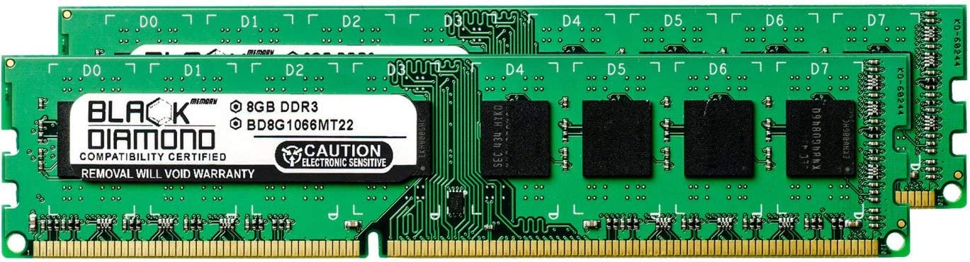 16GB 2X8GB RAM Memory for ASRock Motherboards Z77 WS DDR3 DIMM 240pin PC3-8500 1066MHz Black Diamond Memory Module Upgrade