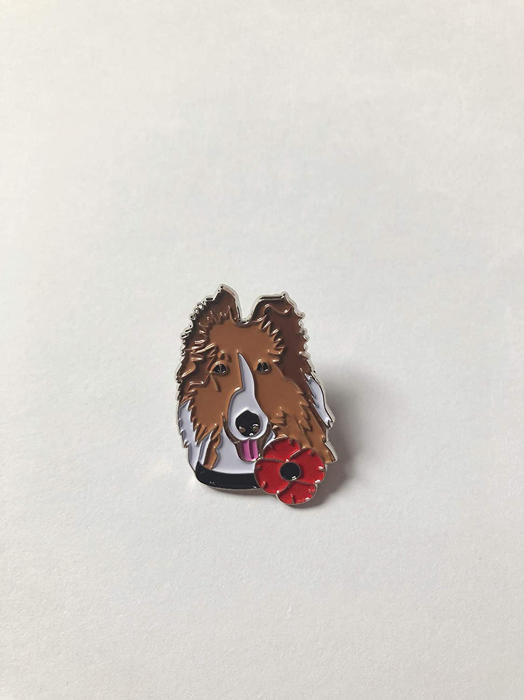 Animals Pets Horse Dog Veteran Military Red Poppy Enamel Pin Badge Brooch SALE