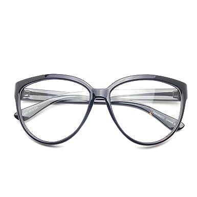 96ddb056930 Womens Oversize Retro Nerd Clear Lens Fashion Cat Eye Geek Glasses (Black)   Amazon.co.uk  Clothing