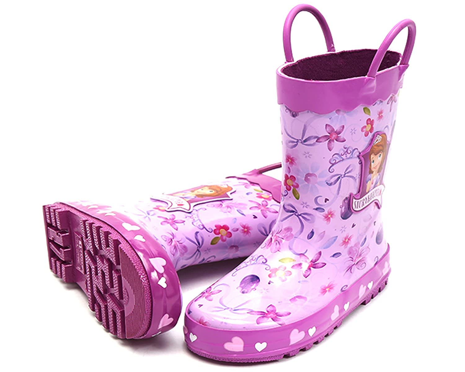 Joah Store Girls Purple Rain Boot Shoes Sofia The First Story Keeper Parallel Import//Generic Product