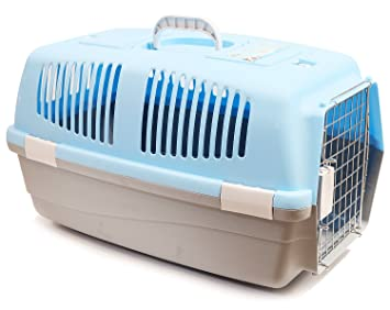 BPS (R) Transportín Rígido para Perro o Gato, Animales Domésticos, Tamaño: 60 x 39 x 35 cm BPS-1206 (Azul claro): Amazon.es: Equipaje