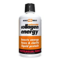 High-Energy Liquid Collagen | AminoSculpt Collagen Energy | 30 Fl Oz | Watermelon...