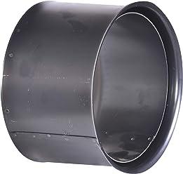 schwarz Rauchrohr f/ür Kamin/öfen und Feuerstellen 45 Grad ohne Reinigungst/ür Ofenrohrbogen aus 2 mm starken Stahl Senotherm in 160 mm Durchmesser